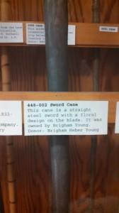 Brigham Young Sword Cane